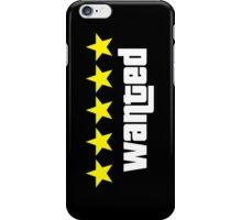 GTA - WANTED 5STARS (yellow) iPhone Case/Skin