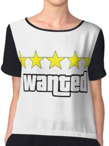 GTA - WANTED 5STARS (yellow) Chiffon Top