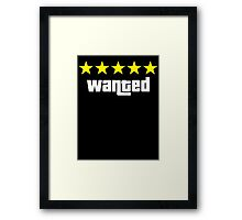 GTA - WANTED 5STARS (yellow) Framed Print