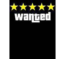 GTA - WANTED 5STARS (yellow) Photographic Print