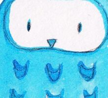 Blue Watercolor Owl Sticker