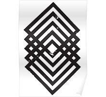 Geometric Diamonds 1 Poster