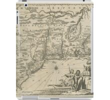 1600s Dutch Map of North America iPad Case/Skin