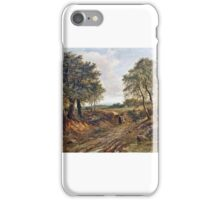 Joseph Thors - Figures on a track, near Nottingham iPhone Case/Skin