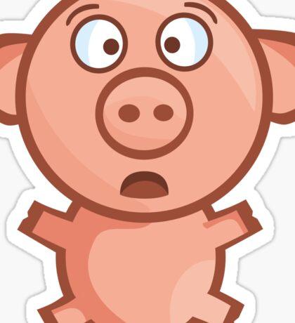 Panicky Piglet Sticker