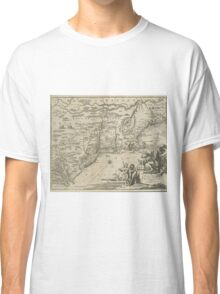 1600s Dutch Map of North America Classic T-Shirt