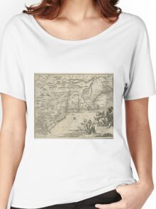 1600s Dutch Map of North America Women's Relaxed Fit T-Shirt