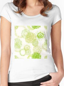 circles abstract seamless pattern Women's Fitted Scoop T-Shirt