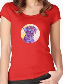 Big black dog drawing - 2011 Women's Fitted Scoop T-Shirt