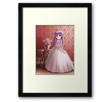 Kagami Wearing Gown Framed Print