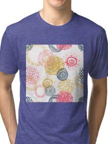 circles abstract seamless pattern  Tri-blend T-Shirt