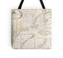 Historic Map of North america Tote Bag