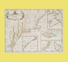 Historic Map of North america Kids Tee