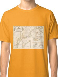 Historic Map of North america Classic T-Shirt
