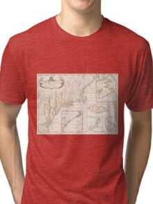 Historic Map of North america Tri-blend T-Shirt