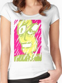 Snowstorm dude. Women's Fitted Scoop T-Shirt