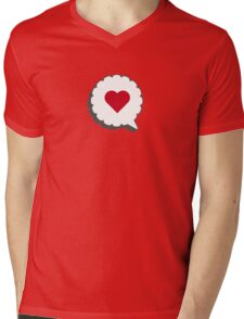 HEART IN A BUBBLE Mens V-Neck T-Shirt