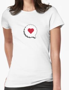 HEART IN A BUBBLE Womens Fitted T-Shirt