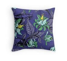 The Sea Garden - midnight blue Throw Pillow
