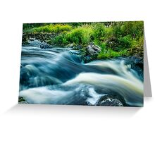 The River Flows On (...as life flows on) Greeting Card