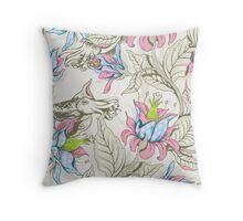 The Sea Garden - pastel Throw Pillow