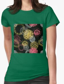 circles abstract seamless pattern  Womens Fitted T-Shirt