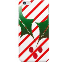 Candy Cane Stripes n Holly iPhone Case/Skin