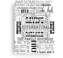 Supernatural- Quotes Canvas Print