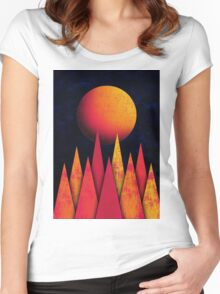 Mountain Sky Peaks Women's Fitted Scoop T-Shirt