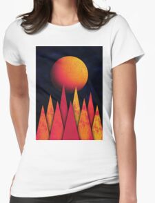 Mountain Sky Peaks Womens Fitted T-Shirt
