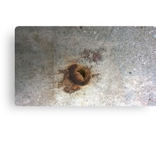 concrete with rust Canvas Print