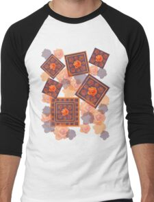 Orange Rose Men's Baseball ¾ T-Shirt