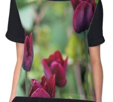 Purple Tulips Chiffon Top