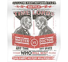 Doctor vs. Master Dr. Who Quote Poster