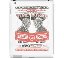 Doctor vs. Master Dr. Who Quote iPad Case/Skin
