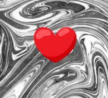 Heart on Marble Sticker