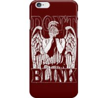 Weeping Angel Dr. Who Quote iPhone Case/Skin