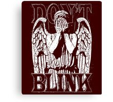 Weeping Angel Dr. Who Quote Canvas Print