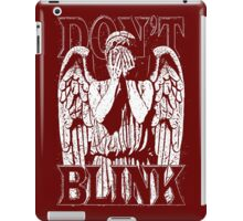 Weeping Angel Dr. Who Quote iPad Case/Skin
