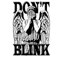 Weeping Angel Dr. Who Quote Photographic Print