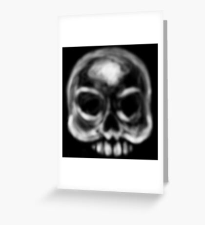White Skull of Ashes Greeting Card