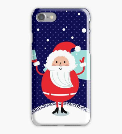 Happy Santa Illustration for christmas card iPhone Case/Skin