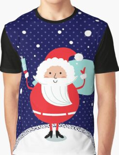 Happy Santa Illustration for christmas card Graphic T-Shirt