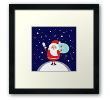 Happy Santa Illustration for christmas card Framed Print
