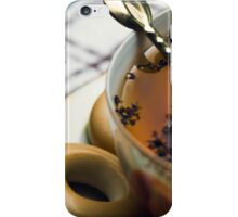 Cup of tea with crackers isolated closeup iPhone Case/Skin