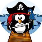 Pirate Penguin at Sea by Gravityx9