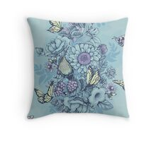 Beauty (eye of the beholder) - powder blue version Throw Pillow