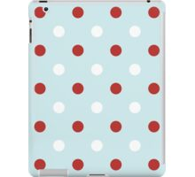 Vintage seamless xmas pattern with Polka dots iPad Case/Skin