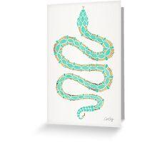 Mint & Gold Serpent Greeting Card
