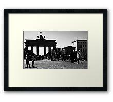 Berlin meets Darth Vader...and a trooper... Framed Print